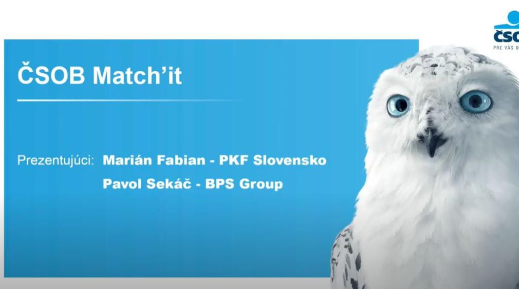 ČSOB Match' it Webinár
